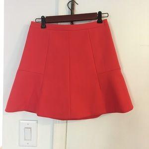 Women's J.Crew skirt, orange red size 00